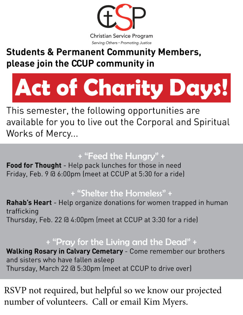 Act of Charity Days 2018
