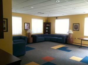 The Newman room and Zak Lounge are a home away from home for students.