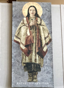 Tapestry of Saint Kateri Tekakwitha
