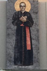 St. Óscar Romero tapestry.