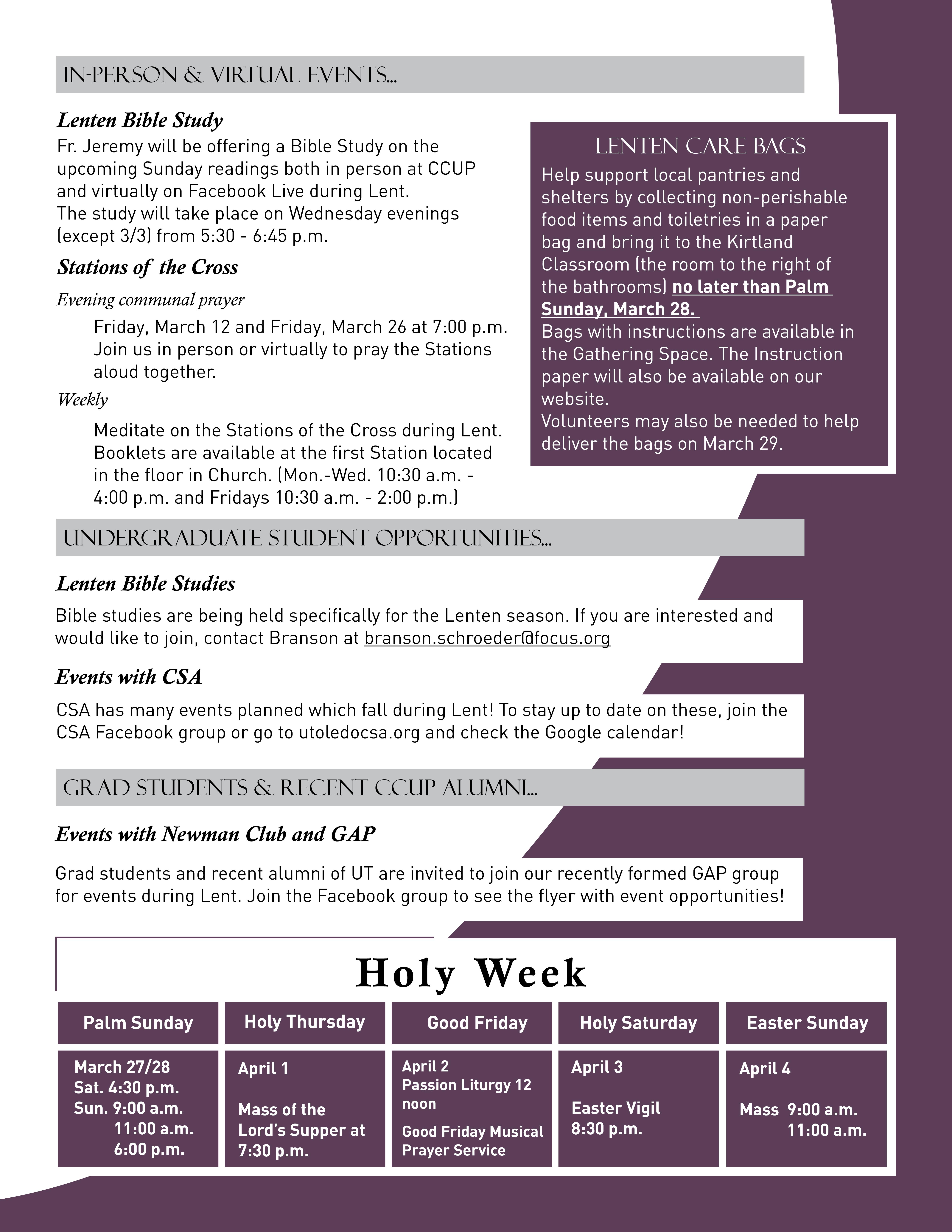 Lent Handout 2021-2