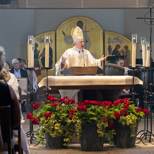 Bishop Thomas visits Corpus Christi for our feast day.